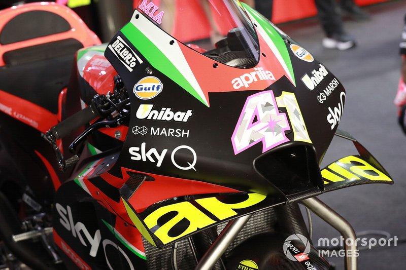 Detalle de la moto de Aleix Espargaro, Aprilia Racing Team Gresini