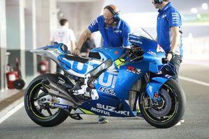 La moto d'Alex Rins, Team Suzuki MotoGP