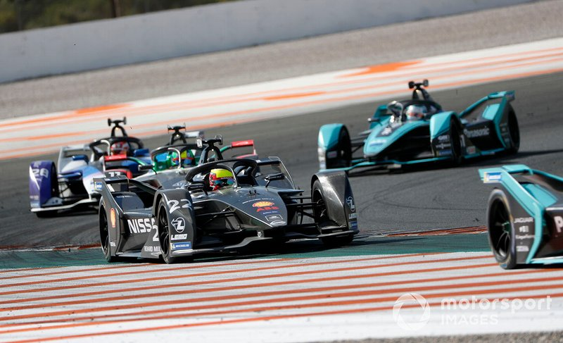 Oliver Rowland, Nissan e.Dams, Nissan IMO2 Lucas Di Grassi, Audi Sport ABT Schaeffler, Audi e-tron FE06, Maximilian Gunther, BMW I Andretti Motorsports, BMW iFE.20