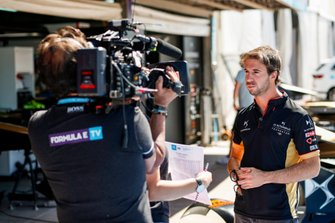 Antonio Felix da Costa, DS Techeetah, in gesprek met de media