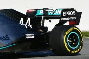 L'aileron arrière de la Mercedes AMG F1 W11