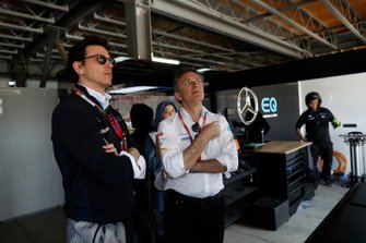 Toto Wolff, Husband of Susie Wolff, Team Principal, Venturi with Alejandro Agag, Chairman of Formula E