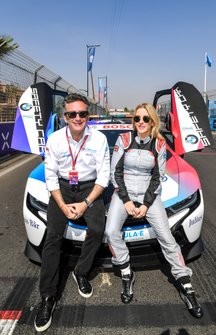 Singer Ellie Goulding con Alejandro Agag, Chairman di Formula E