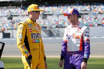 Kyle Busch, Joe Gibbs Racing, Toyota Camry M&M's Denny Hamlin, Joe Gibbs Racing, Toyota Camry FedEx Express