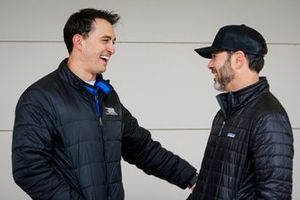 Graham Rahal, Rahal Letterman Lanigan Racing Honda en Jimmie Johnson