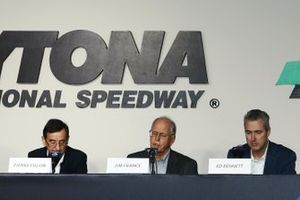 Pierre Fillon, ACO President, Jim France, IMSA Chairman, Ed Bennett, IMSA CEO
