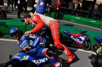 Alex Rins y Jack miller en el evento de las Mini MotoGP