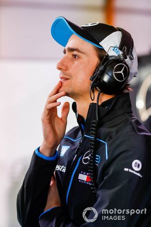 Esteban Gutierrez, Reserve, Development Driver, Mercedes Benz EQ in he garage