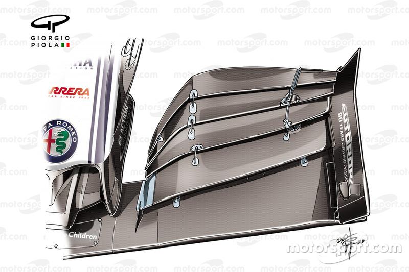 Alerón delantero del Alfa Romeo C38 para el GP de Brasil