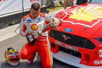 Scott McLaughlin, DJR Team Penske Ford with the Virgin Australia Championship trophy