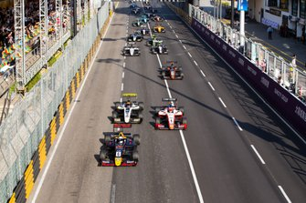 Start action, Jüri Vips, Hitech Grand Prix leads