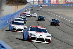 Brandon Jones, Joe Gibbs Racing, Toyota Supra Toyota Service Centers, Harrison Burton, Joe Gibbs Racing, Toyota Supra Dex Imaging
