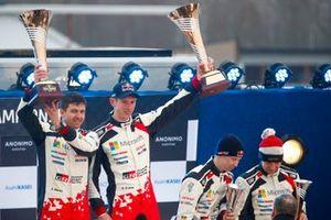 Podium: Winner Elfyn Evans, Scott Martin, Toyota Gazoo Racing WRT Toyota Yaris WRC