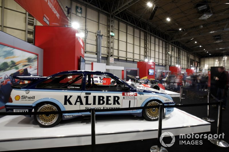A general view of the fans around Andy Rouse's Ford Sierra RS500 Cosworth