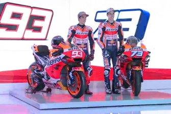 Marc Marquez, Repsol Honda Team, Alex Marquez, Repsol Honda Team (Screenshot)