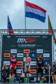 Het podium van de MXGP van Nederland