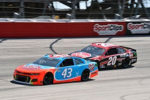 Erik Jones, Richard Petty Motorsports, Chevrolet Camaro STP and Christopher Bell, Joe Gibbs Racing, Toyota Camry Rheem