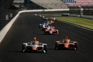 Juan Pablo Montoya, Arrow McLaren SP Chevrolet and Felix Rosenqvist, Arrow McLaren SP Chevrolet