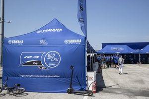 Yamaha R3 cup paddock