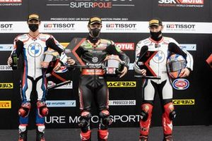Top 3 dopo la Super pole, Michael van der Mark, BMW Motorrad WorldSBK Team, Jonathan Rea, Kawasaki Racing Team WorldSBK, Tom Sykes, BMW Motorrad WorldSBK Team