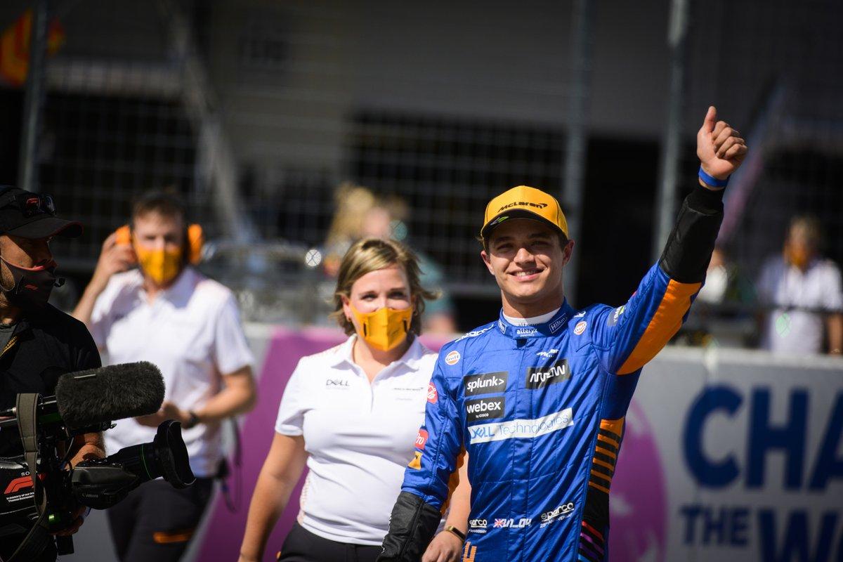 Segundo puesto Lando Norris, McLaren