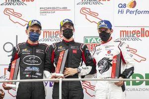 Podio: Alessandro Giardelli, Dinamic Motorsport, Marzio Moretti, Bonaldi Motorsport e Gianmarco Quaresmini, Tsunami RT