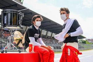 Carlos Sainz Jr., Ferrari , and Charles Leclerc, Ferrari
