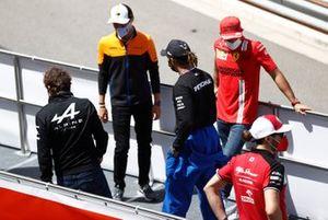 Fernando Alonso, Alpine Lewis Hamilton, Mercedes Lando Norris, McLaren Carlos Sainz Jr., Ferrari Antonio Giovinazzi, Alfa Romeo Racing