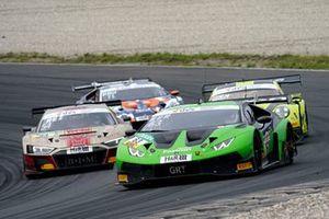 #63 GRT Grasser Racing Team Lamborghini Huracán GT3 Evo: Mirko Bortolotti, Albert Costa Balboa, #54 Yaco Racing Audi R8 LMS: Simon Reicher, Norbert Siedler