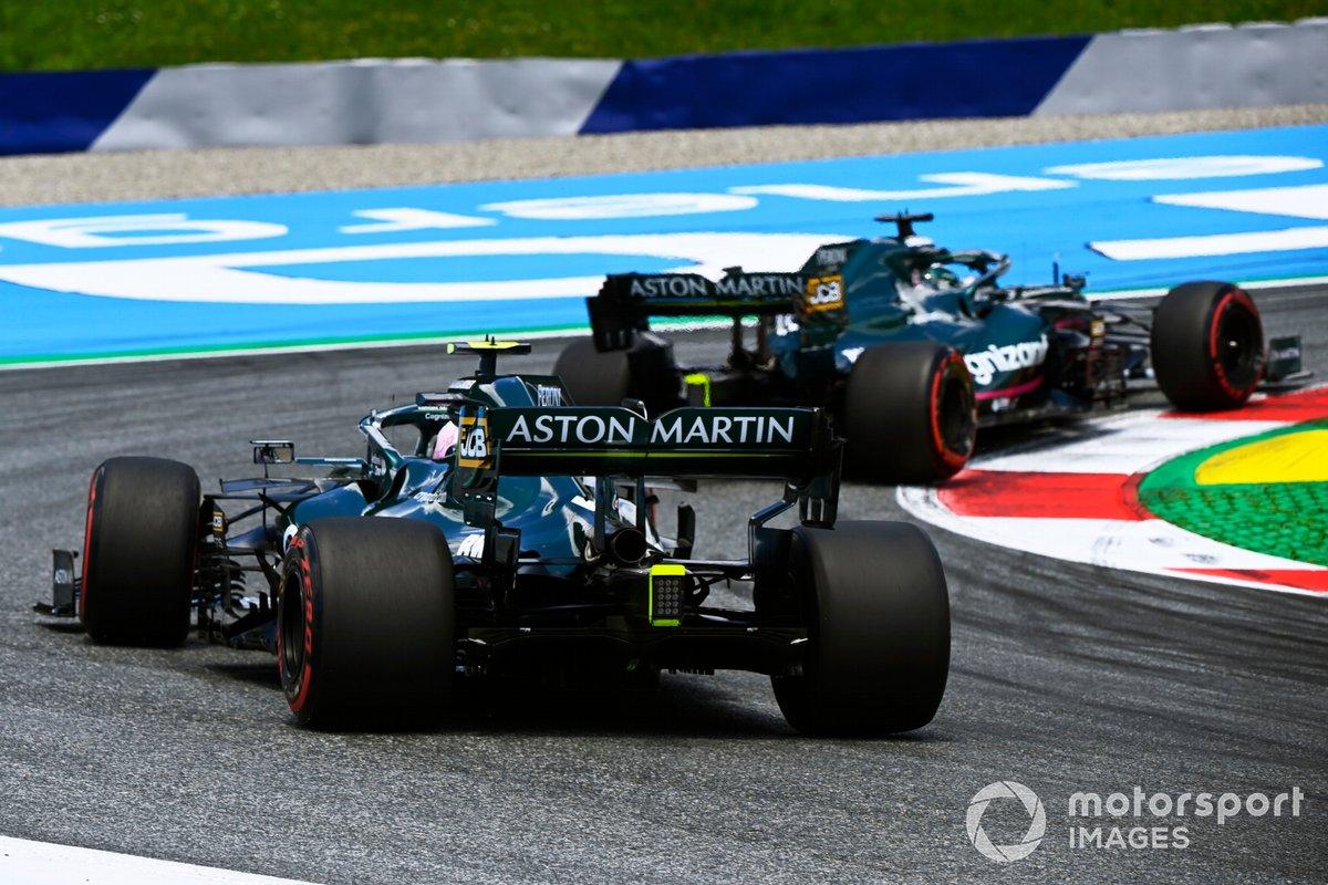 Lance Stroll, Aston Martin AMR21, Sebastian Vettel, Aston Martin AMR21