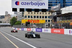 Jack Aitken, HWA Racelab, leads Oscar Piastri, Prema Racing