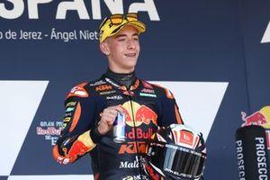 Podio: ganador de la carrera, Pedro Acosta, Red Bull KTM Ajo