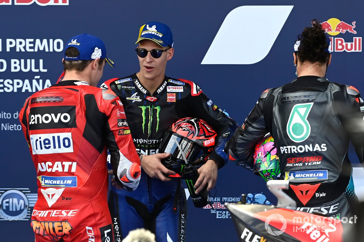 Jack Miller, Ducati Team, Fabio Quartararo, Yamaha Factory Racing, Franco Morbidelli, Petronas Yamaha SRT