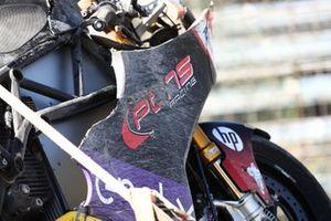 Sturz: Jasper Iwema, Pons Racing 40