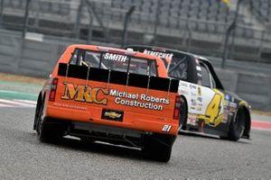 John Hunter Nemechek, Kyle Busch Motorsports, Toyota Tundra ROMCO, Zane Smith, GMS Racing, Chevrolet Silverado MRC Contruction