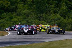 Josef Newgarden, Team Penske Chevrolet, Colton Herta, Andretti Autosport Honda