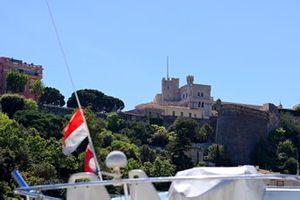Una vista del Palacio del Príncipe en Mónaco