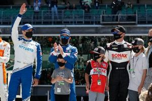 Alex Palou, Chip Ganassi Racing Honda, Ed Carpenter, Ed Carpenter Racing Chevrolet, Tony Kanaan, Chip Ganassi Racing Honda