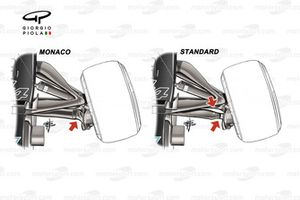 Mercedes AMG F1 W12 front suspension