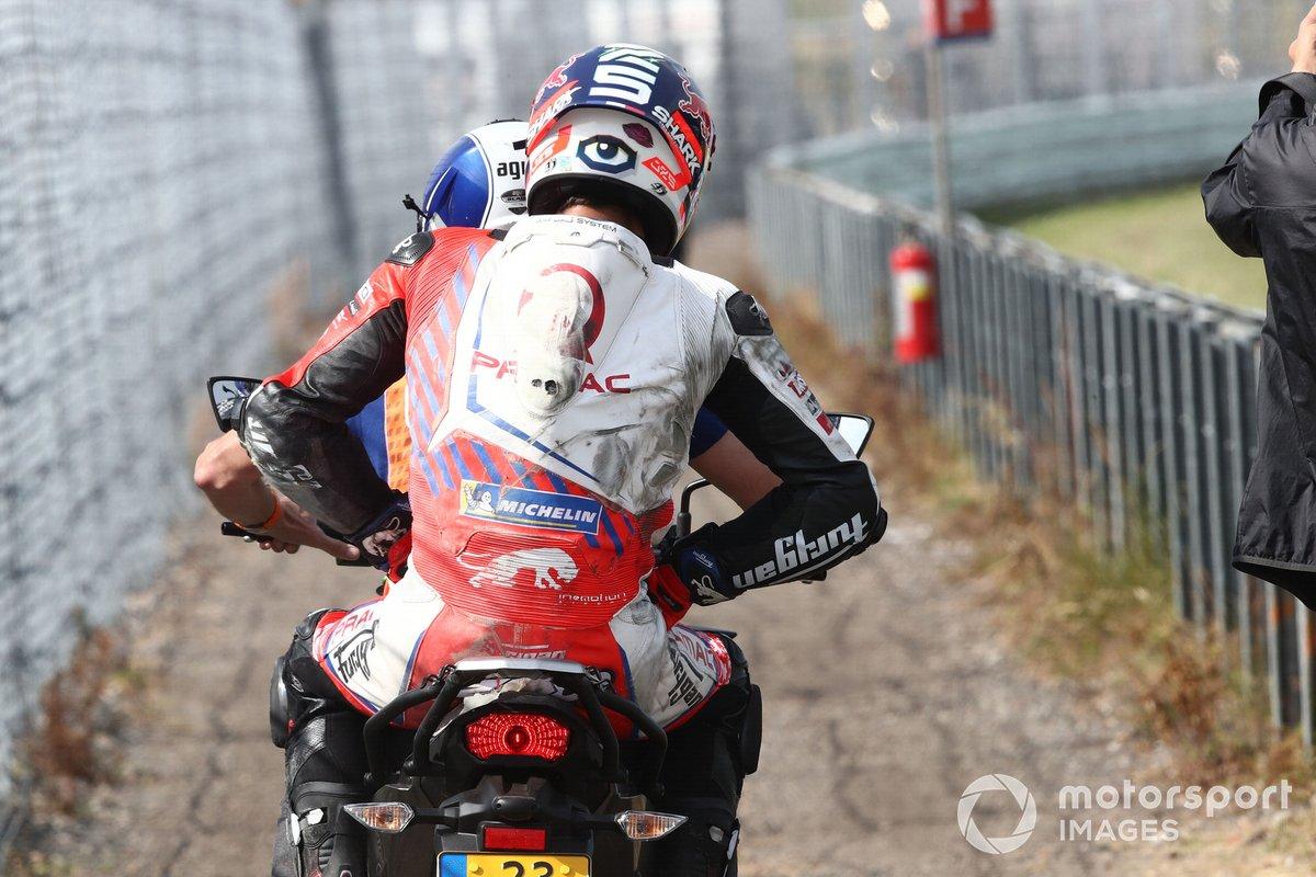 Johann Zarco, Pramac Racing, después de la caída