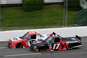 Tanner Gray, Team DGR, Ford F-150 Ford Performance and Ryan Preece, Team DGR, Ford F-150 Morton Buildings