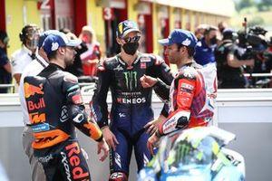 Race winner Fabio Quartararo, Yamaha Factory Racing, Johann Zarco, Pramac Racing, Miguel Oliveira, Red Bull KTM Factory Racing