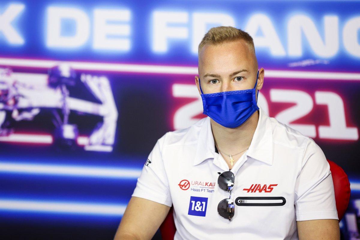 Nikita Mazepin, Haas F1 en la conferencia de prensa