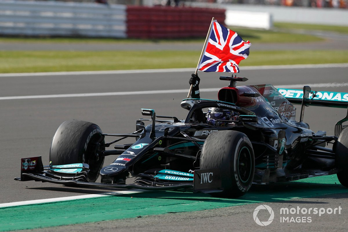 Lewis Hamilton, Mercedes W12 vince il GP di Gran Bretagna