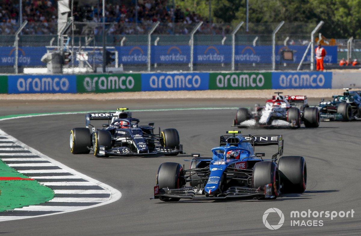 Esteban Ocon, Alpine A521, Pierre Gasly, AlphaTauri AT02, Kimi Raikkonen, Alfa Romeo Racing C41