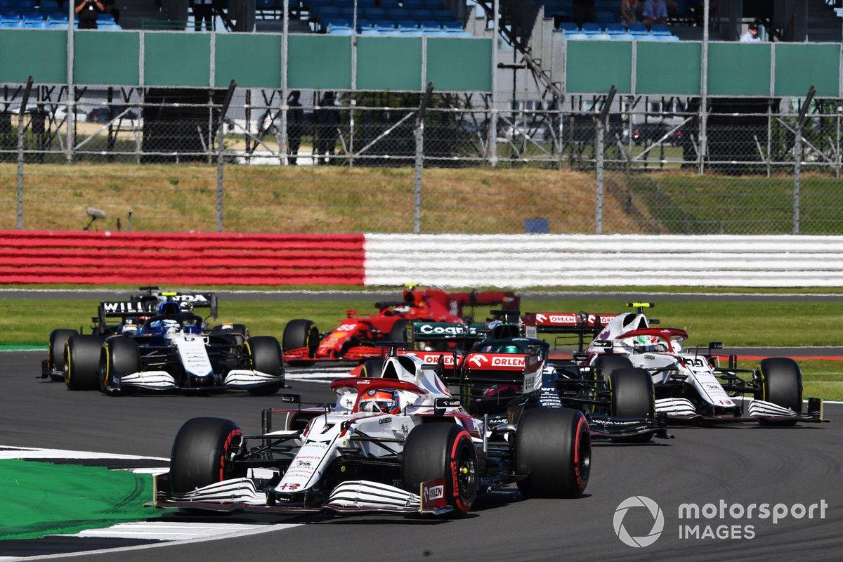 Kimi Raikkonen, Alfa Romeo Racing C41, Lance Stroll, Aston Martin AMR21, Antonio Giovinazzi, Alfa Romeo Racing C41
