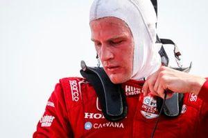 Marcus Ericsson, Chip Ganassi Racing Honda viert zijn eerste overwinning