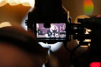 Kevin Magnussen, Haas F1 Team lors de la conférence de presse