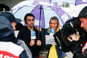 TV Pundit Dario Franchitti with TV Presenter Nicki Shields