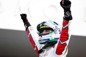 Lucas Di Grassi, Audi Sport ABT Schaeffler, Audi e-tron FE05, celebrates after winning the race during the Mexico City E-prix